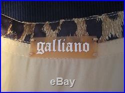 Vintage 1990s John Galliano silk rock star grunge slip dress beaded top ensemble