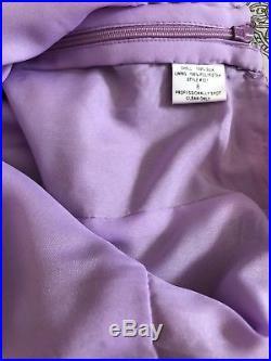 Vintage 1990s Lilac Sequin Star Burst Slip Dress Size S / M