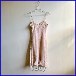 Vintage 2000s Y2K R. E. D. Valentino Chic Sexy Pink Floral Flounce Silk Slip Dress