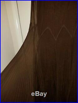 Vintage 20s 1930s Chocolate Brown Silk Chiffon Dress + Silk Slip Shift M L