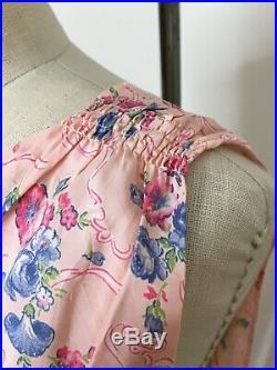 Vintage 30s Volup Bias Cut Rayon Slip Dress Size XXL