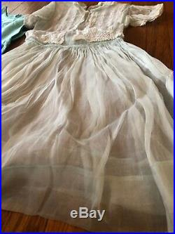 Vintage 40s 50s Kids Girls Celeste Of New York Sheer Lace Dress And Slip