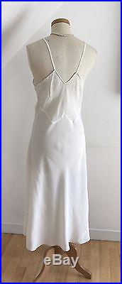 Vintage 40s Bias Slip Dress CC41 Exquisite Nightdress Petticoat Curvy 1940s WWII