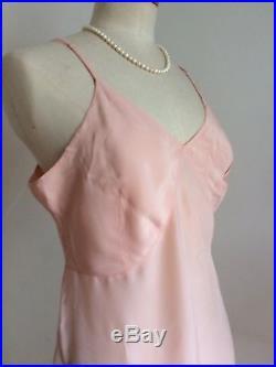 Vintage 40s Slip Peach Silk Lace CC41'Morley' Shift Petticoat Pinup Bombshell