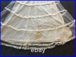 Vintage 50s Slip Dress Nightgown Doll Cottage Prairie Edwardian Victorian Ghost
