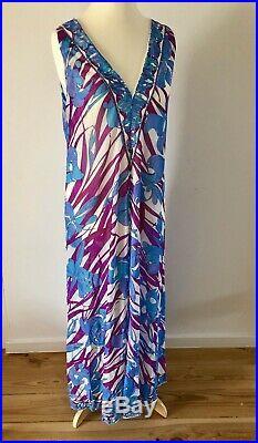 Vintage 60s Emilio Pucci for Formfit Rogers Maxi Slip Dress