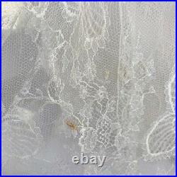 Vintage 60s White Delicate Eyelash Lace Slip Dress