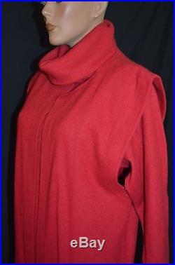 Vintage 80s GUCCI s. P. A 3 pc Rabbit Hair Sweater Dress Vest Coat Slip 44