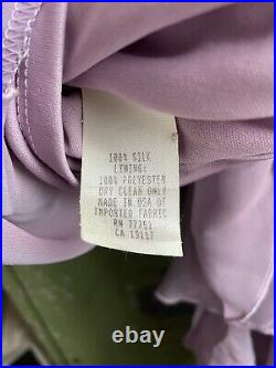 Vintage 90s Betsey Johnson Evening Dress Silk Slip Size Small Pink With Tags