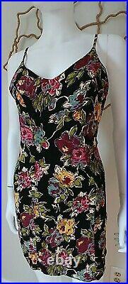 Vintage 90s Betsey Johnson Grunge PIN UP cocktail Boho FESTIVAL RETRO dress XS