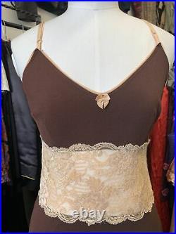 Vintage 90s Dolce & Gabanna Lace Slip Dress Size 30/44
