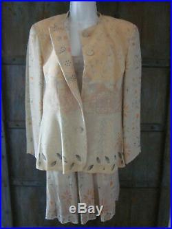 Vintage 90s Emporio Armani Strappy Slip Dress 42 Matching Jacket 44 Worn Once