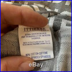 Vintage 90s Fendi Light Grey and White Zucca Monogram Spellout Slip Dress