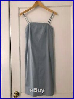 Vintage 90s Giorgio Armani Blue Slip Dress SZ 4 Maryam Nassir Zadeh Baserange
