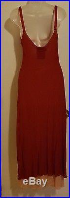 Vintage 90s Jean Paul Gaultier Red & Pink 2 In 1 Elegant Slip Dress 8 Grunge