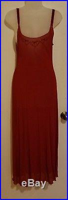 Vintage 90s Jean Paul Gaultier Red & Pink 2 In 1 Elegant Slip Dress 8 Grunge