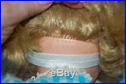 Vintage AE 1651 26 Doll with nice hair Ribbons Dress Shoes Socks panties slip