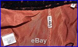 Vintage Alaia Nude Pink Slip, Black Lace Fishtail Bustier Gown Long Dress