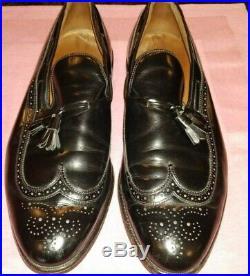 Vintage Allen Edmonds Berwick Wingtip Slipon Leather Loafer Shoessize 12 Eee
