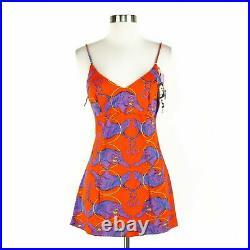 Vintage Arnel NWT NEW Dead Stock Micro Mini Slip Dress Tunic Tiger Print Size 9