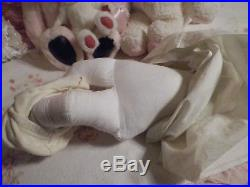 Vintage Artist Made Porcelain Baby Doll withRed Mohair Wig Vintage Baby Dress Slip