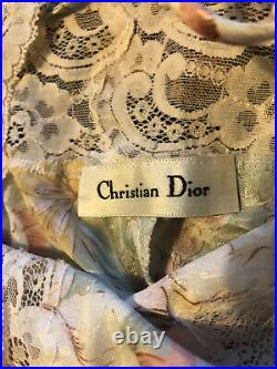 Vintage Authenticated Womens Christian Dior Nightgown Slip Dress Size Medium
