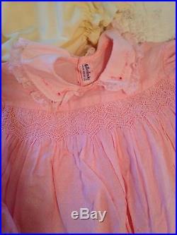 Vintage Baby Girl Dresses Slip Bloomer 20 Piece Lot 40's- 60's