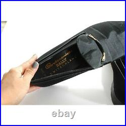 Vintage Bally Men Designer Size 10.5 Slip On Loafer Driving Smoking Black Shoes