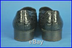 Vintage Bally PRATO Black Crocodile/Alligator Slip On Loafers 10 M Switzerland
