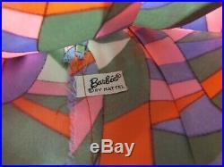 Vintage Barbie Doll RAINBOW WRAPS #1798 Mod Satin Dress Wrap Slip Shoes 1970