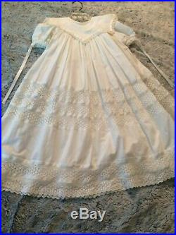 Vintage Bella by Sheree Aust Gown size 2 with under slip 100% Cotton