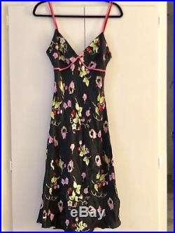 Vintage Betsey Johnson Silk Slip Dress Size 6
