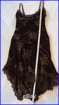 Vintage Betsey Johnson Velvet Slip Dress Ballet Witchy Gypsy Steampunk Goth