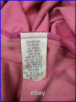 Vintage Betsey Johnson Velvet Slip Dress Pink Green Medium
