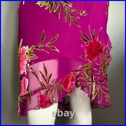 Vintage Betsey Johnson floral burnout slip dress Sz S
