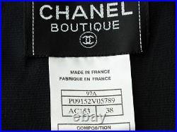 Vintage Black Chanel Boutique Fall 1997 Silk Slip Dress size 8