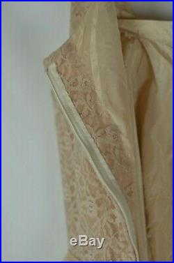 Vintage Blush Pink Floral Lace Dress with Slip Size Small