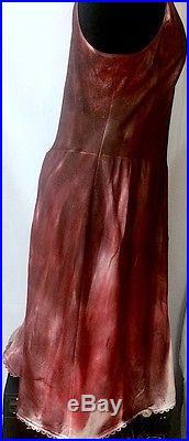 Vintage Burgundy Tie-Dye Slip Dress sz 38 (US M) Plastics Style! By Lexa Vonn