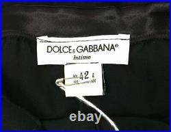 Vintage C. 1995 Dolce & Gabbana Pin-Up Sheer Black Silk Long Slip Dress