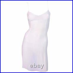 Vintage C. 1999 Dolce & Gabbana Sheer Ivory Slip Mini Dress 38/40