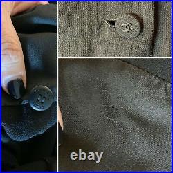 Vintage CHANEL France Authentic Black Crepe Long Dress Gown 38FR/10Aust/6 US