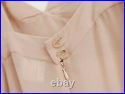 Vintage Chanel SS02 Nude Pink Silk Chiffon Slip Dress FR44/UK16