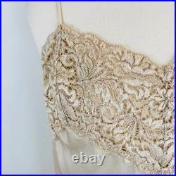 Vintage Charmeuse Silk Lace Donna Karan Slip Dress
