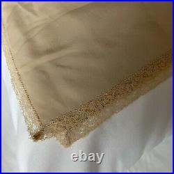 Vintage Christian Dior Beige Trotter Full Length Strapless Slip Dress-SZ 34