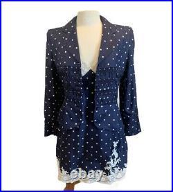 Vintage Christian Dior Boutique Silk Dress, Jacket & Bag Set