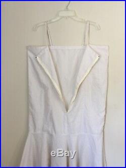 Vintage Christian Dior Monogram All Over Print Logo Slip Dress Nightgown L/XL