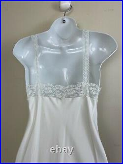 Vintage Christian Dior White Lace Blue Trim Slip Size Small Bridal Negligee
