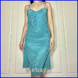 Vintage Christian Dior green slip dress
