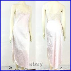 Vintage Christian Dior pink nightgown chemise womens M slip dress made in USA