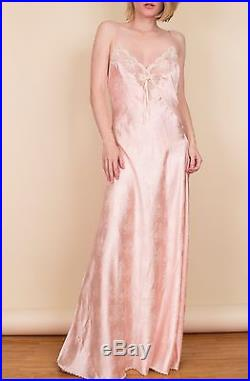 vintage christian dior pink slip dress bias maxi satin